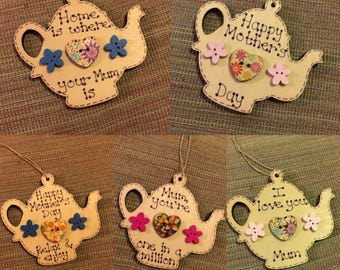 Mother's Day Teapot decoration / gift tag