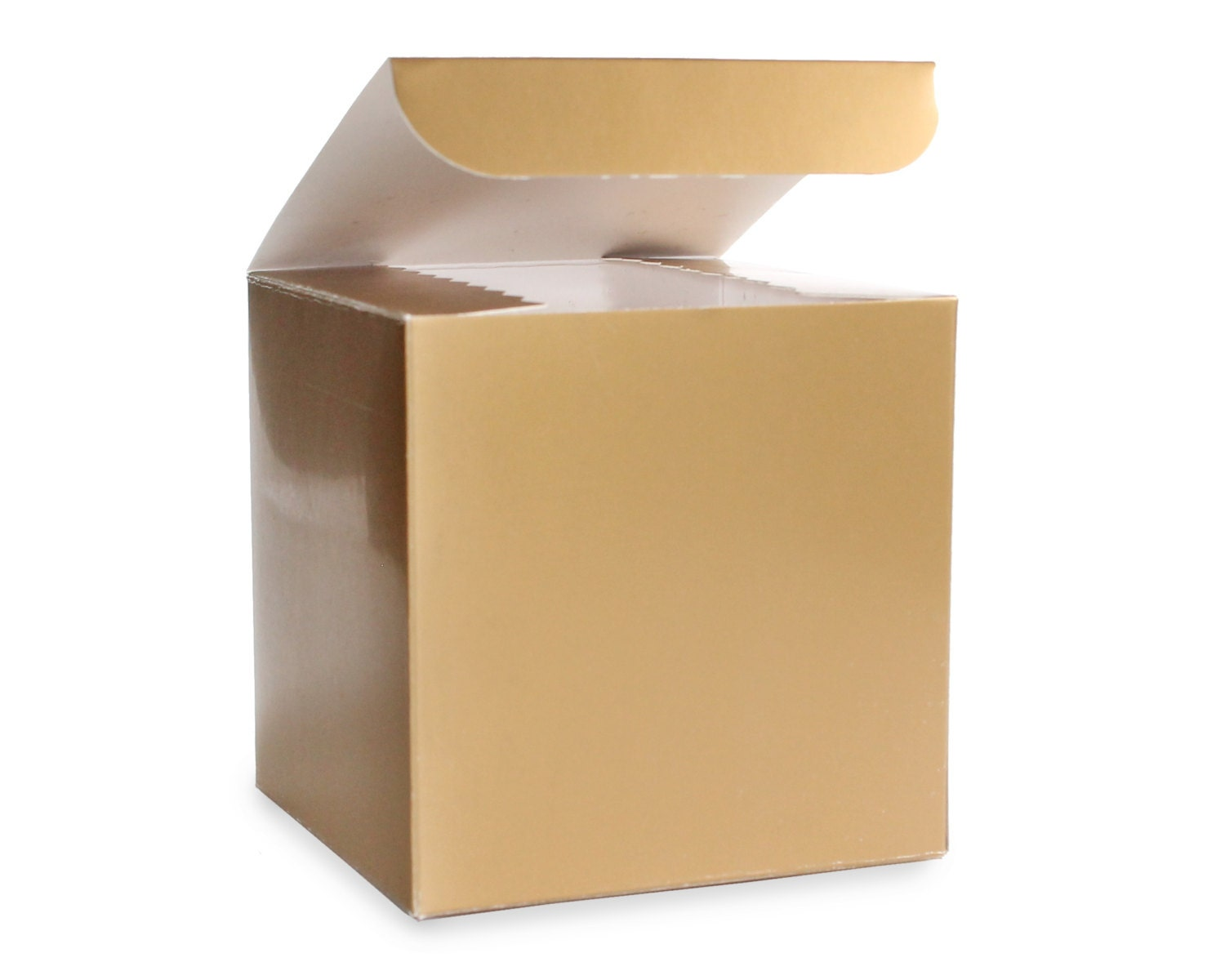 Gold Favor Boxes 4x4x4 : Gold box x party favor boxes glam wedding