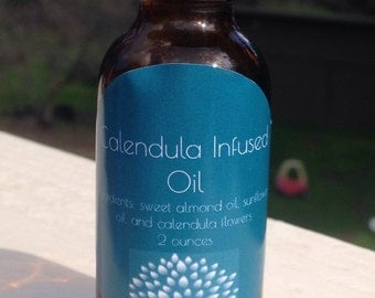 Sun infused calendula oil