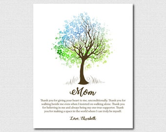 Unique Gifts For Mom 63rd Birthday Gift for Mom Birthday Gift Personalized Mothers Day Gift For Mothers Day Tree Artwork Gift for Mom Tree