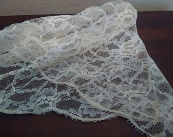 Confirmation Communion Scarf~Beautifully Elegant~Off White Color-Scarf Vintage Lace