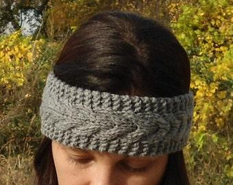 Hand knit headband knit headband knit ear warmer cable knit headband