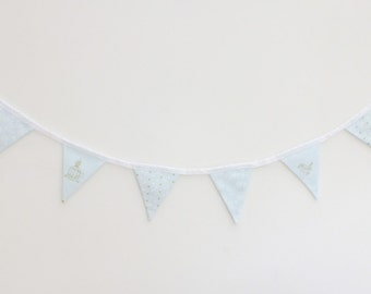 Blue Bunting (birds, hearts & bows) - 1.6m