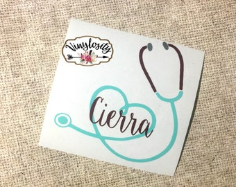 Stethoscope Decal | Nurse Decal | Doctor Decal | Nurse Yeti Decall | Doctor Yeti Decal | Nurse Car Decal | Doctor Car Decal