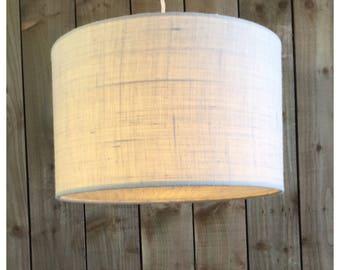 Cream Hessian Light Shade & Hessian Diffuser 25cm 30cm 35cm 40cm 45cm 50cm 60cm 70cm FREE UK SHIPPING
