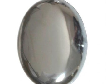 40X30mm Oval Hematite with Flat Back and Low Dome--sold as single stone (1)