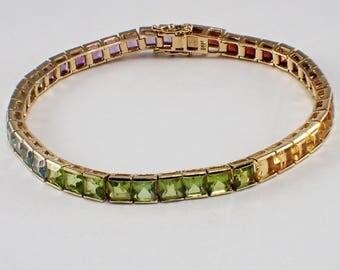14k Yellow Gold Multi-Stone Bracelet