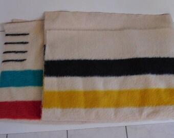 Hudson Bay Company Vintage Wool Blanket Four Points
