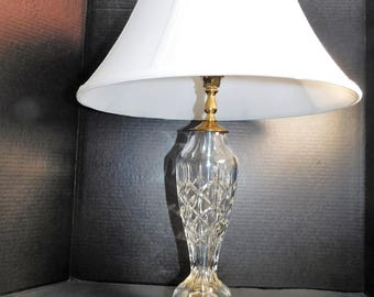 Waterford Table  Lamp With Shade