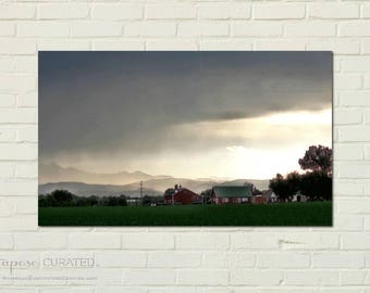 PLATTEVILLE NO. 40 -art print on metal, rural landscape, country art, farm landscape, country landscape, country watercolor, rural art decor