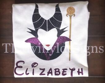 Maleficent shirt// Disney villain// Disney World shirt// Disneyland// personalized