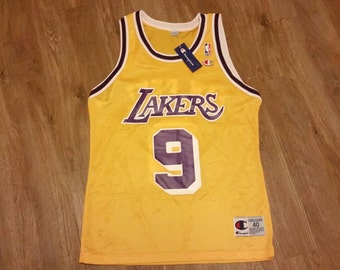 Nick van exel jersey,champion jersey,lakers jersey, NWT, NEW, jersey size 40, Lakers jersey,deadstock