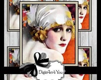 Haute Couture, Fashion, Beautiful, Art Deco, Vogue, Chorus Line, Dancer, Dance, Inchies, Dominoes, Vintage, Collage, Collage, 1 x 1, 1 x 2