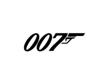 007 Decal - James Bond Decal / Vinyl Decal / James Bond 007 / 007 Gifts