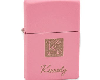 Lighter Monogrammed Pink Matte Zippo Lighter FREE SHIPPING
