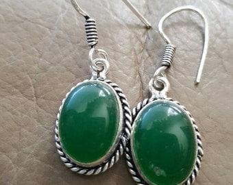 Green Jade Earrings!