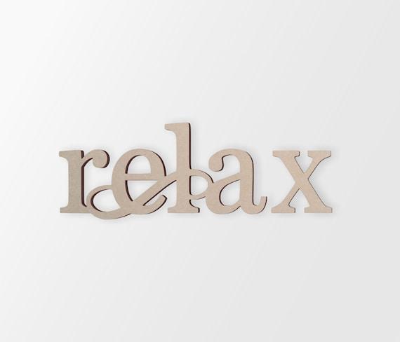 Wall Decor Word Cutout Relax Cutout Home Decor