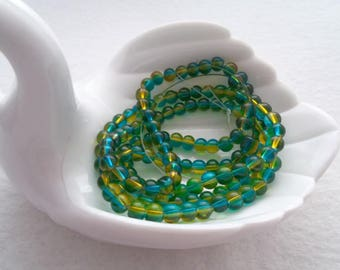 M* - 6 mm Glass Beads - Half and Half - Multiple Colors (1202)