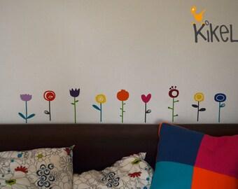 Flower wall decals sticker Fensterdeka tile sticker