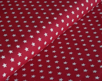 Bordeaux cotton fabric with white stars