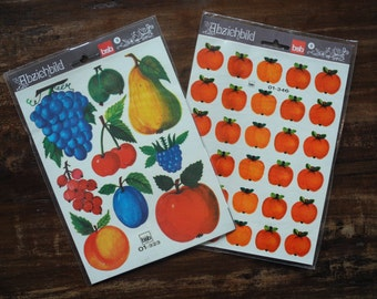 Vintage retro bsb Fruit decal water transfer decoration stickers