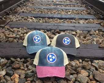 Tennessee Tristar Distressed Trucker Hat