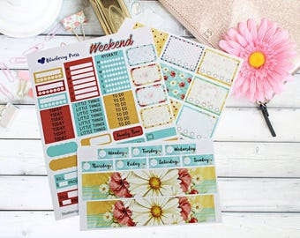 Daisy Weekly Kit planner stickers perfect for Erin Condren Vertical