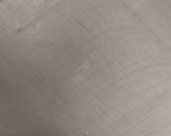 "55"" X 41"" Bright White 100% Linen Fabric - Handkercheif Light Weight Fabric - White Linen 1 Yard Linen Fabric"