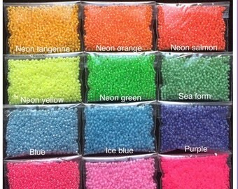 Toho neon size 11/0 beads