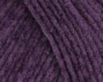 Rowan Chenille cotton textured DK yarn ref 9802171 759 Mulberry and  753 Pesto