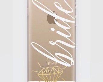 Bride to be, bride case, transparent cases, iphone 6, iphone 7,  plus cases, clear case, bride to be case, wifey phone case
