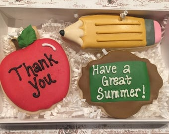 Teacher/Decorated Sugar Cookies/-Teacher Gift/ Teacher Sugar Cookies/Teacher Appreciation