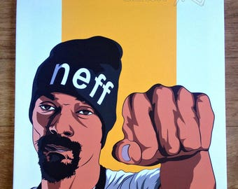 Snoop Dogg original canvas / art work, pop-art /hip-hop *watermark will be removed