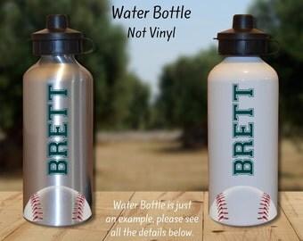 Baseball Gift, Baseball Water Bottle, Team Gift, Sports Water Bottle, Personalized Water Bottle, Customer Water Bottle