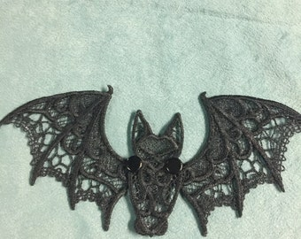 Creature of the Night: Bat Embroidery Lace