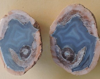 Polished thunder egg  agate  from Germany