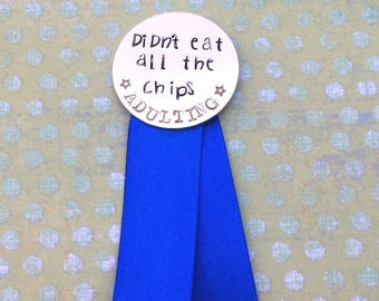 Adulting ribbon, adulting award, funny gift, adulting reward, dad joke, put on pants, gift for moms, mother's day gift, sarcastic present