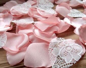 Peach Satin Petals ,Wedding,Silk petals,Artificial Retals Handmade,Peach Retals,Decorations,Weddings,Party Décor,Party Supplies,Lace petals