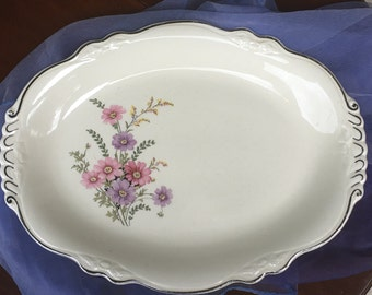 Oval Serving Platter Virginia Rose Design Homer Laughlin USA Made