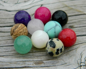 10 - 8mm Semi Precious Stones Marbles for interchangeable jewelry
