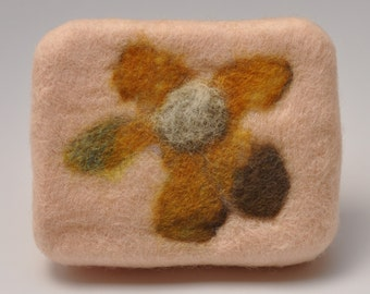felted flower soap, felted soap, flower design soap