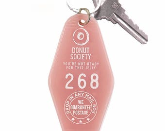 Donut Society Key Tag Pink