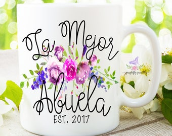 Abuela Mug, Gift For Abuela, World's Best Mug, La Mejor Abuela, Abuela, New Abuela, Pregnancy Reveal, Spanish Pregnancy Announcement, Abuela