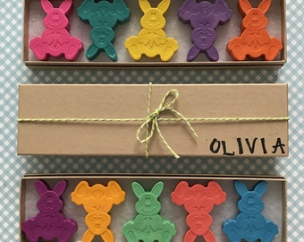 Some Bunny Loves You Adorable Personalized Easter Bunny Crayon Gift Set Fun Unique Easter Basket Gifts Easter Crayons Bunny Crayons