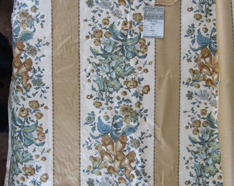 2 yards vintage Cyrus Clark drapery upholstery fabric 35 inches wide FOXGLOVES