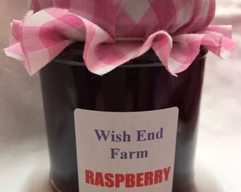 Raspberry Jelly Homemade 200g (7oz) Jar, Food Gifts, Birthday Gift, No Artificial Preservatives, Teacher Gift, Hostess Gift, Gifts For Her