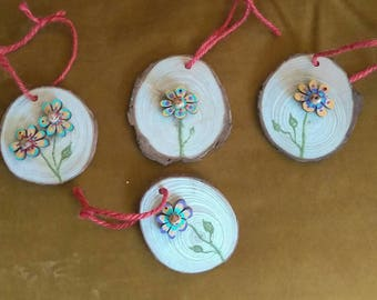 Homemade flower ornaments