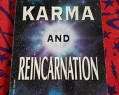 Karma and Reincarnation by Dr. Hiroshi Motoyama ** vintage metaphysical guidebook from 1992