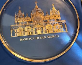 1972 Orrefors historical churches world Crystal plate basilica Di San Marco