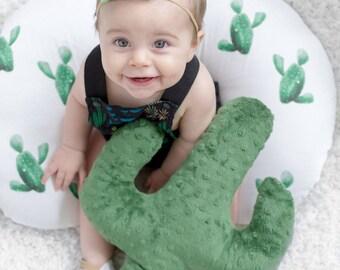 Cactus Boppy, boppy cover, green, watercolor, baby bedding, choose items, boho, aztec, greenery, modern, gender neutral, ccrib sheet